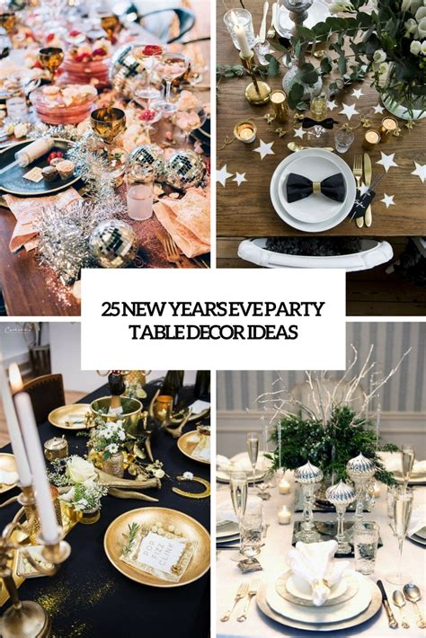 Decorating Ideas New Years by 25 New Year S Table Decor Ideas Shelterness