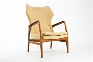 Fauteuil Bois Et Tissu : fauteuil en bois et tissu aksel bender madsen 1960 ~ Melissatoandfro.com Idées de Décoration