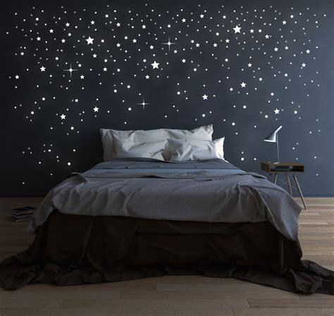 Wandgestaltung Schlafzimmer Beispiele by Riesen Sternenhimmel 708 Stk Sterne Wandtattoo