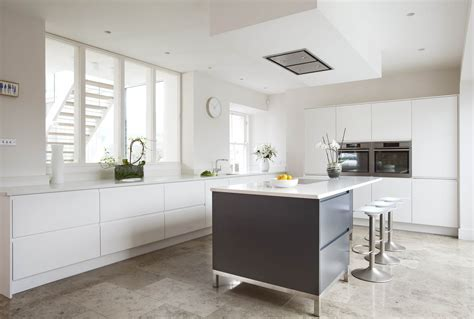 Contemporary German style Dublin Kitchen, painted in