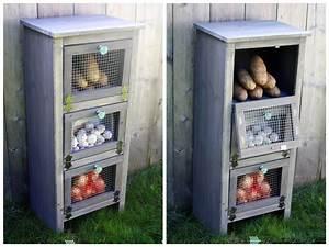Ana White Vegetable Bin Cupboard - DIY Projects