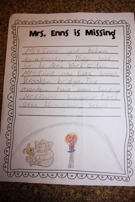 teacher  missing gr  writing activity worksheet
