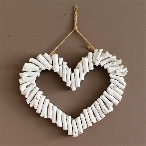 Shop for driftwood wall decor online at target. Coastal White Driftwood Hanging Heart Wall Art Sculpture ...