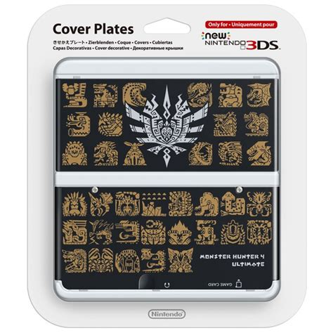 new 3ds cover plates new nintendo 3ds cover plate monster hunter 4 ultimate