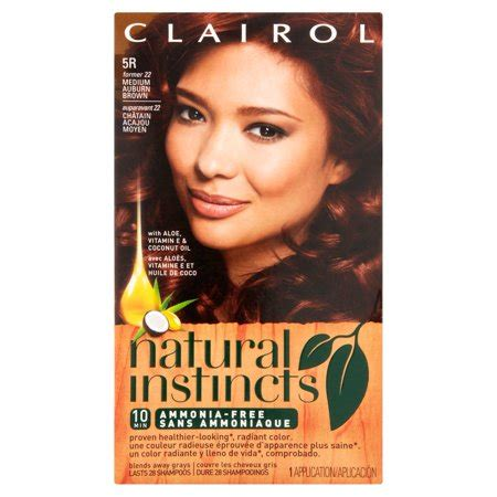 clairol instincts color chart clairol instincts hair color 22 medium auburn