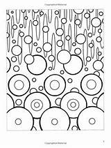Coloring Abstract Dover Coloriage Books Abstractions Murakami Takashi Deco sketch template