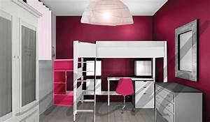 couleurs plus flashy dans la decoration de chambre de With couleur de chambre fille