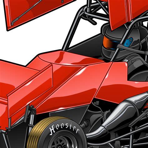 Micro Sprint 6 Fast Racing Grafx