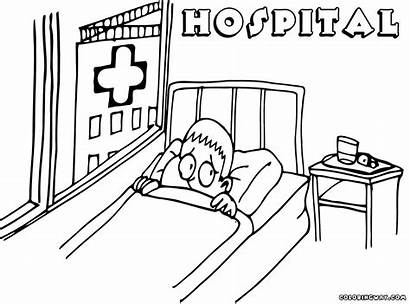 Hospital Coloring Pages Building Hospital2