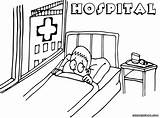 Hospital Coloring Pages Building Hospital2 sketch template