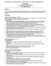 resume exles to print sle resume exle 9 print buyer resume exle or printing estimator sle resume