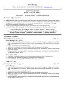 sle of business owner resume store manager or owner resume