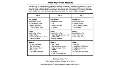 day cardiac diet lose lbs   days  mom