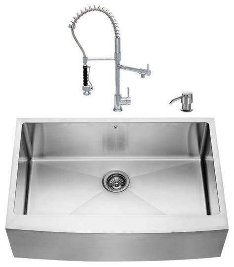 modern kitchen sinks stainless steel vigo all in one 33 quot farmhouse stainless steel kitchen sink 9241