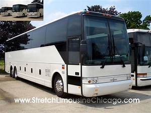57-Passenger VanHool Luxury Tour Bus Rental in Chicago Outside