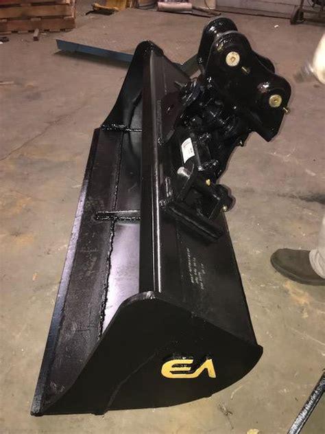 east attachments  tilting clean  hydraulic tilt bucket caterpillar cat mini excavator
