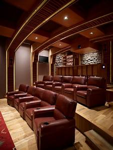 Movie room ideas home theater southwestern with yellow ...