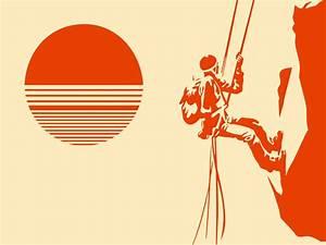 Mountain Climber Silhouette Vector Art & Graphics ...