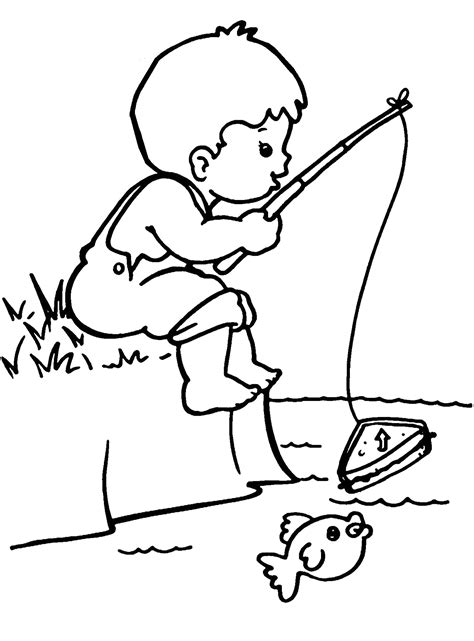 boy coloring clipart free printable boy coloring pages for