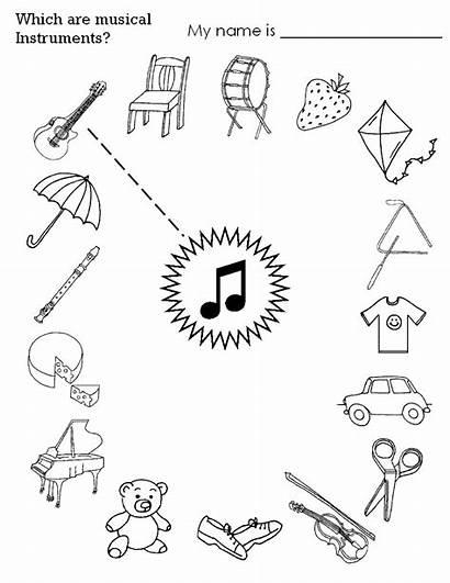 Worksheets Instrument Worksheet Instruments Musical Preschool Crafts