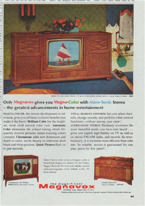 magnavox tv vintage ad magna color