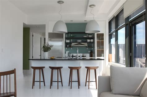 brooklyn penthouse contemporary kitchen  york