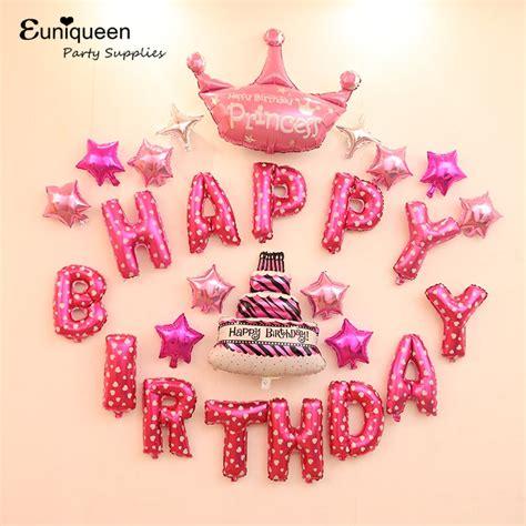 15 fantastic balloon décor ideas you wont miss backdrop ideas. Girl Birthday Kit Pink Theme Happy Birthday Letter Balloons Kids Party ideas Princess Party ...