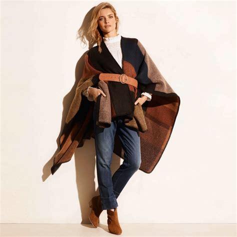 robe de chambre etam comment porter le poncho pour l 39 automne hiver 2015 2016