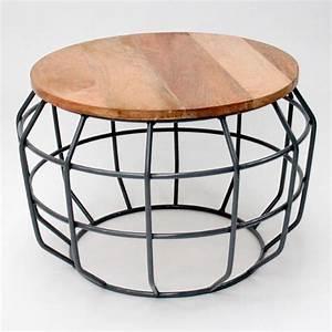 Table D Appoint Metal : table d 39 appoint m tal et bois m pixel label51 drawer ~ Teatrodelosmanantiales.com Idées de Décoration