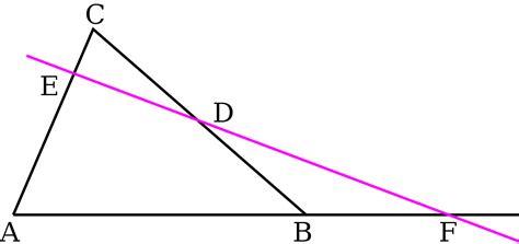 Menelauss Theorem