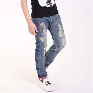 Boy Ripped Jeans Ye Jean