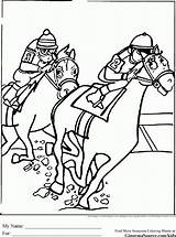 Coloring Derby Racing Kentucky Horses Horse Sheets Seabiscuit Printable Track Ginormasource Malvorlagen Popular Gemerkt Von Pinnwand Auswählen Paul sketch template