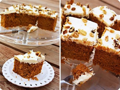 pumpkin spice cake  cinnamon cream cheese frosting