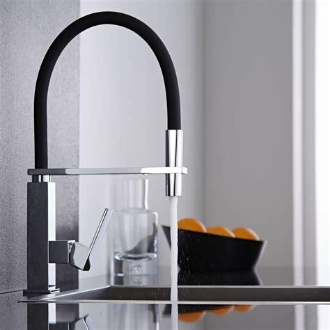 robinetterie cuisine douchette mitigeur cuisine noir avec douchette 160 hudson reed