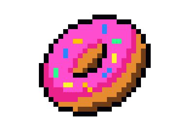 Download animated wallpaper, share & use by youself. donut me | Pixel Art Maker