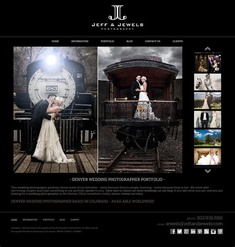 Photography Web Design For Denver Co's Jeff & Jewels