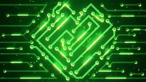 Blue Circuit Board Electronic Hi-tech. Beautiful Chip ...