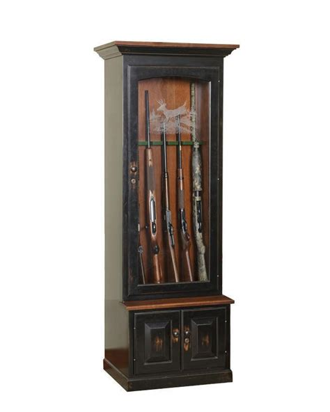 Wooden Gun Cabinets by Amish Kodiak Gun Cabinet From Dutchcrafters