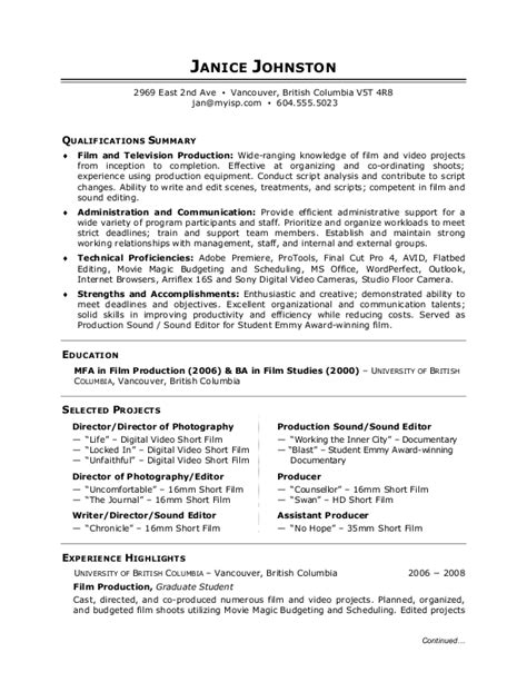 simple resume exles for students