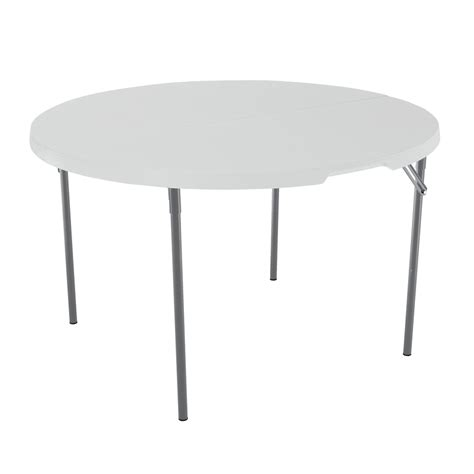 shop lifetime products 48 in x 48 in circle steel white