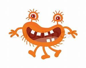 Bacteria Cartoon Character With Eyes