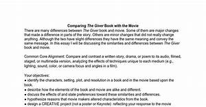 Comparing The Giver Book With The Movie