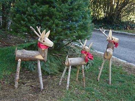 wooden reindeer  pretty bows christmas celebration