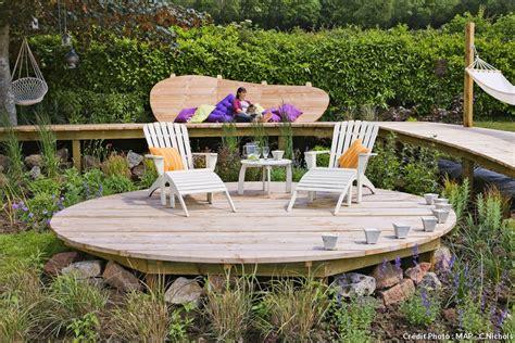 comment amenager une terrasse en bois nivrem comment faire une terrasse en bois dans un jardin diverses id 233 es de conception de