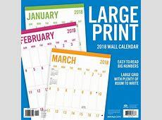 Printable Calendar 2018 Large Print Printable Calendar 2018