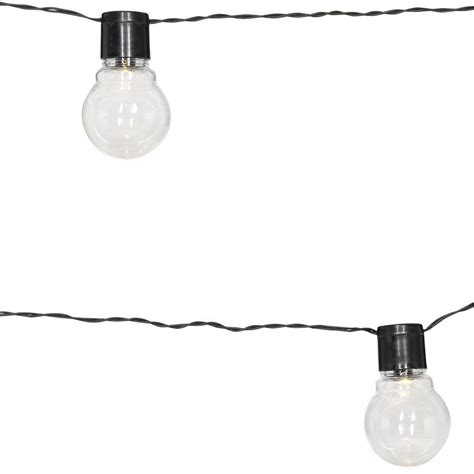 moonrays solar powered clear globe string light 91129