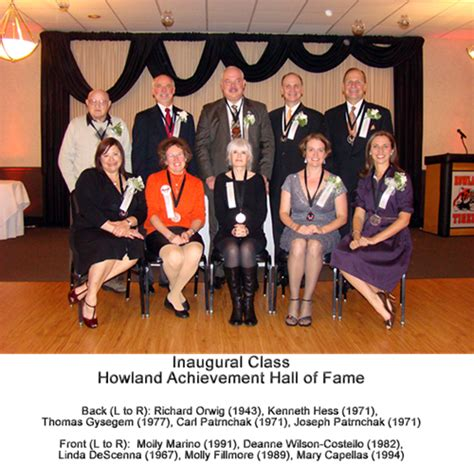 inductees howland local schools