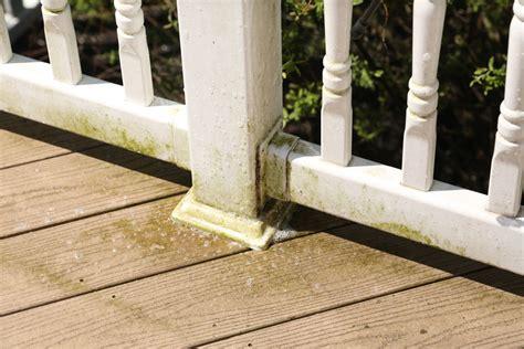 algae removal  deck railings deckmax