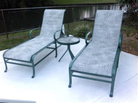 Patio Furniture Replacement Slings Florida by Pool Furniture Fabric Sling Replacements In Florida
