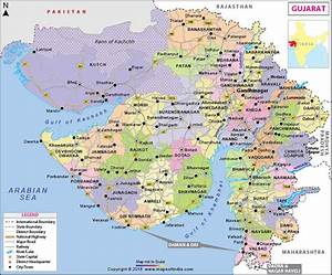 Gujarat Map State Districts Information And Facts